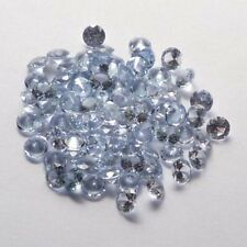 Lot of 9 NICE 5 MM Round Cut Lab Aquamarine Color Spinel Gemstones CLOSEOUT