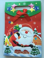 2x CHRISTMAS Packaging Gift Wrap Paper cardboard Party Favor Bag 26.6x17.5x8cm