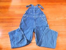 Roebucks Brand Denim Bib Overalls / Tape Measure Sz: 42 x 29 Made in Usa
