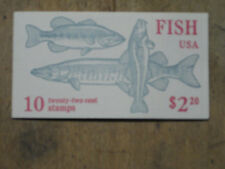 1986 US Mint Fish Stamp Booklet containing 2 panes,with 5 varieties attached