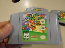 Super Mario 64 N64 Nintendo 64 (Level Based Mario Bros Game) AUTHENTIC & TESTED