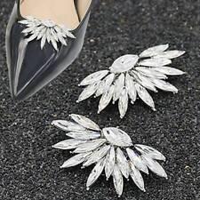 1pair Crystal Shoes Decoration Buckle DIY High-Heel Shoes Charm Bridal Shoe Clip