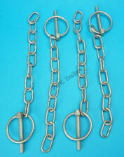4 x 6mm Galvanised Lynch Pin & Chain Ifor Williams Trailers & Horse Box