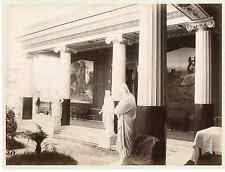 Grèce, Corfou, villa Sissi  Vintage albumen print  Tirage albuminé  21x27