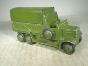 Dinky Toys Military Army PREWAR 6 Wheel Wagon #151b EXCELLENT 80 YRS. OLD