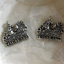 """Tibet/""""   13 15 MM 6 Breloques Pendants Charms  COQUILLAGE  /""""Arg"""