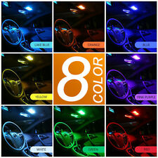 A1 2x RGB 8-Color LED Panel Light 12-SMD 5050 Interior Dome Map Universal Bulbs