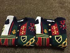 VTG Lot (2) Women's That's Me ! Ugly Christmas Matching Sweater Rare L XL XMAS