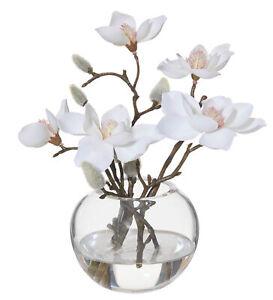 Rogue Magnolia-Sphere Vase White/Glass 19x16x21cm