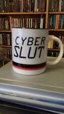 """Cyber Slut"" Coffee Mug White Red Black Porcelain"