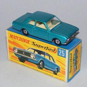 MATCHBOX SUPERFAST #25a FORD CORTINA GT MARK 2 NEAR MINT BOXED