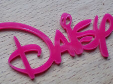 Pink DISNEY Personalised Acrylic Name Plaques Board Word wall door sign Plastic