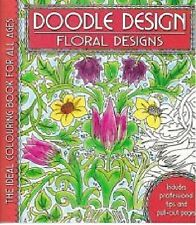 DOODLE DESIGN __ FLORAL DESIGNS _ BRAND NEW ADULT COLOURING BOOK
