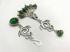 Sea Turtle Magnetic Portuguese Knitting Pin & Stitch Markers with Holder