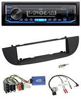 JVC Bluetooth mp3 CD USB aux radio del coche para Fiat Panda a partir de 2012 negro