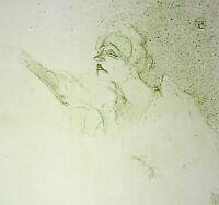 Toulouse Lautrec: Mélancholie Der Mitternacht- - Lithografie Unterzeichnet, 1950