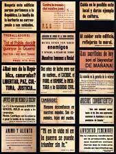 PROPAGANDA GUERRA CIVILE SPAGNOLA SPAGNA COMUNISTA SOCIALISTA Poster Pubblicità Vintage 2866py