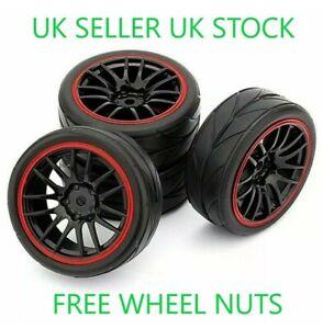 😀1/10 UK RC ON ROAD CAR WHEELS TIRES TYRES FOAM INSERTS TRAXXAS TAMIYA HSP😀