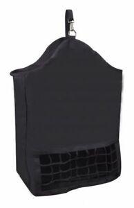 "New  Showman Slow Feed Hay Bag Net Cordura Nylon Black 22"" x 30"" Horse Tack NR"