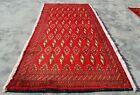 Hand Knotted Vintage Afghan Turkmon Sara Wool Area Rug 3 x 2 Ft (11578 KBN)