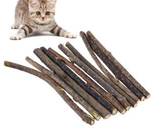 10 x Kauhölzer aus Katzenminze (Catnip) als Snacksticks für gesunde Zähne