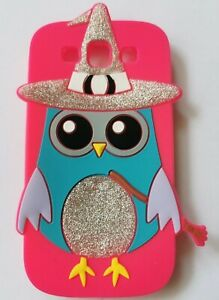NEW 3D PINK Witch Wizard Owl Silicone Phone Case Cover Samsung Galaxy S3 i9300