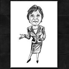 Karikatur vom Foto ~ - Portrait nach Foto - Business Frau - Motiv *Geschenk*