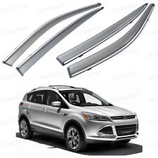 Front & Rear Window Deflector Visor Vent Shade for Ford Kuga Escape 2013-2015 14