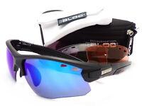 BLOC interchangeable TITAN sports Sunglasses Matte Black/ 4 Lens Box Set XB630