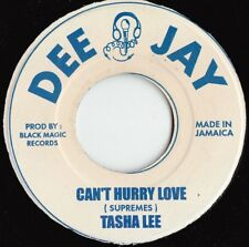 Tasha Lee ORIG JAM 45 Can't hurry love/ Solomon Versio EX Dee Jay Reggae 1980's
