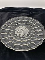 """Indiana Glass Clear Constellation with Fruit Etched In The Center 13 3/4"""""""