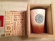 Starbucks Swarovski Pumpkin Spice Latte PSL Tumbler & Sterling Silver Card $50