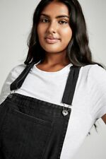 Cotton On Womens Curve Classic Denim Pinafore Curve  In  Black