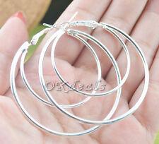 Fashion Women's 925 Sterling Silver Hoop Dangle Earrings Studs Jewelry TGS