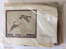 Vintage Crewel Embroidery Bird Design Kit Blanche Virgien Mallard Ducks UNOPENED