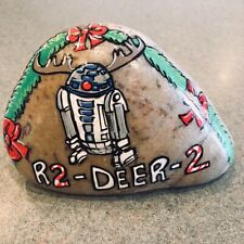 R2d2 Christmas Rock Art