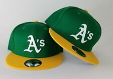 New Era Cooperstown 9Fifty Green / Yellow Oakland Athletics A's Snapback Hat