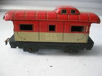 Vintage Marx NYC Caboose Tin Metal Railcar