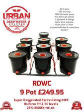 20L 9 Pot Système pour Tente de Culture 1.5 X 1.5 1000W 1 Léger Auto Rdwc Clonex