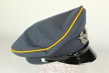 Vintage Navy Blue/Grey Peaked Officer Military Cap Winged Wreath Badge Hat