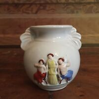 Antique Decorative Small Vase Lady Design Made In Germany