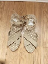 Pair of New beige canvas Sandals size 40 New without box