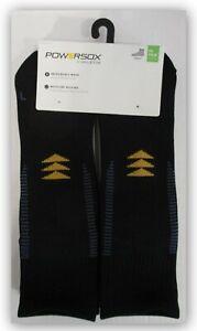 Powersox by Gold Toe 6 PR Men's Sport Flat Knit ANKLE SOCKS Black/Grey/Charcoal