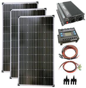 Komplettset 3x140 Watt Solarmodul 1500 Watt Wandler Laderegler Photovoltaik PV