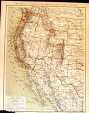 "1894 - WEST AMERICA from ""Konversations"" by Brockhaus"