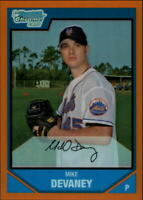 2007 Bowman Chrome Prospects Orange Refractors #BC40 Mike Devaney /25