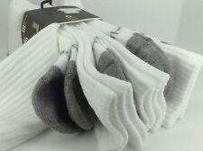 Men's TIMBERLAND Brand White 7% COTTON Hiking Crew Socks - 4 Pack - $36 MSRP