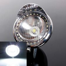 27 LED MOTORCYCLE ANGEL EYE FOG HEADLIGHT LAMP FOR HARLEY CHOPPER BOBBER CRUISER