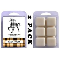 Real Genuine Leather Scent (Tack Room) | 2 Pack Scented Wax Melts Warmer Tarts