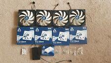 More details for 4 x  arctic f12 silent 120 mm standard case fans + arctic 10 port pwm fan hub